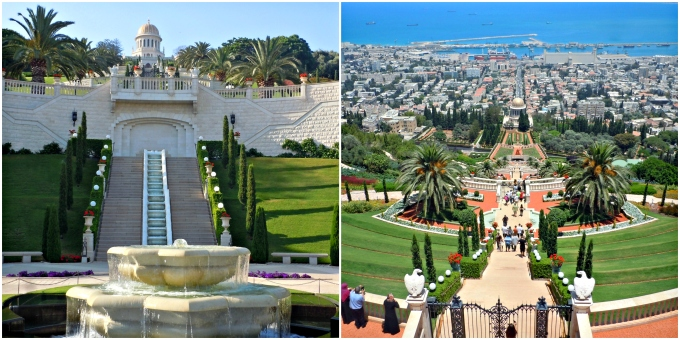 Bahai-Gardens-and-Golden-Dome-top-and-bottom-of-the-gardens-haifa-israel-things-to-do-northern-israel