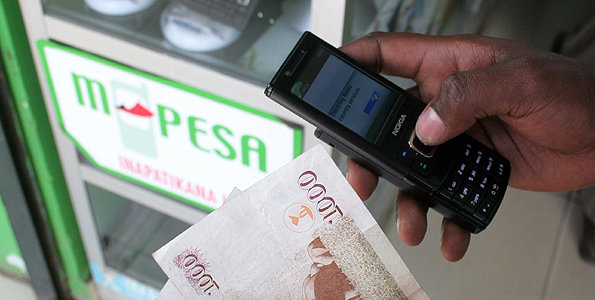 A mobile money transfer outlet in Nairobi, Jamia mall. Picture: Anthony Kamau